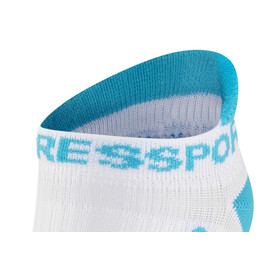 Compressport Racing V2 Run Low Socks White/Blue